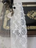 FC236 Nottingham Cotton Cluny Lace Vintage style - OFF WHITE